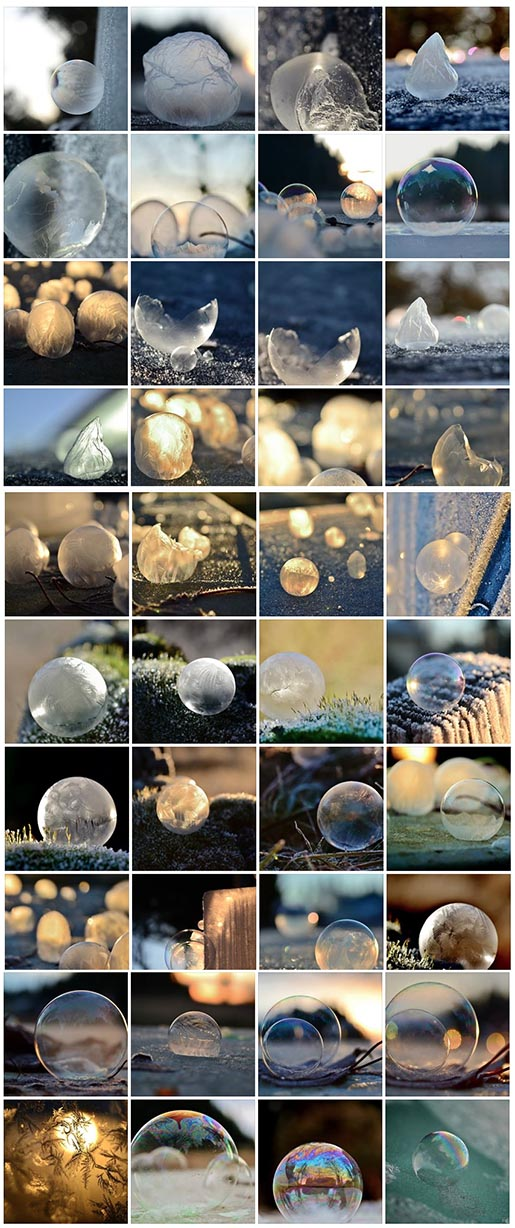 Frozen in a bubble Facebook photos by Angela Kelly