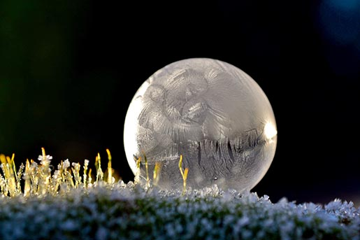 Frozen in a bubble - Bubble Frozen In Moss by Angela Kelly