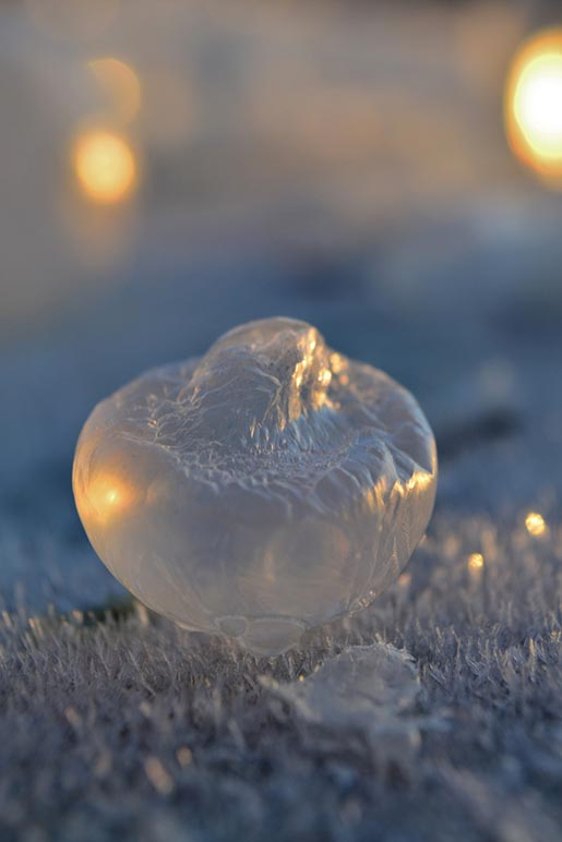 Frozen in a bubble - Implosion by Angela Kelly