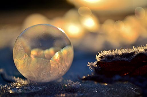 Frozen in a bubble - Frozen Mother of Pearl by Angela Kelly