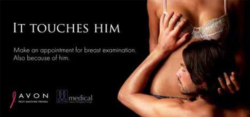 Avon breast cancer ad It Touches Him
