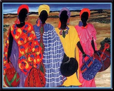 African Women not in a breast cancer postage stamp