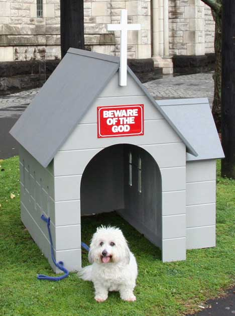 Beware of the God kennel and sign