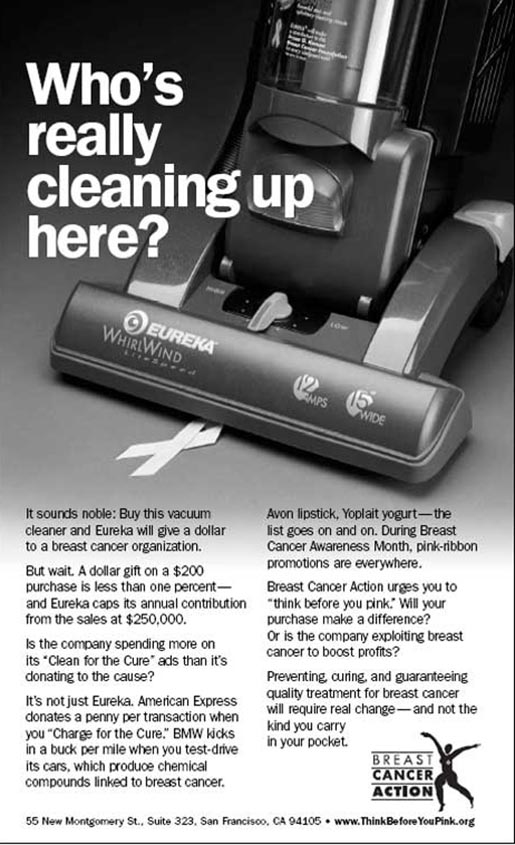 Who's Really Cleaning Up Here - ad in NY Times