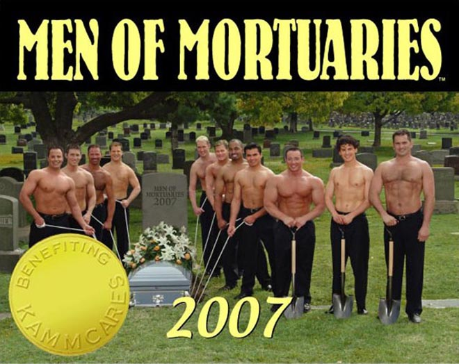 Men of Mortuaries Calendar Front Cover