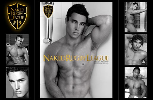 Naked Rugby League Calendar Black and White version