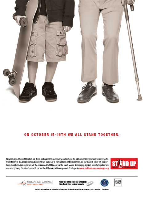 Stand Up Against Poverty - global poster