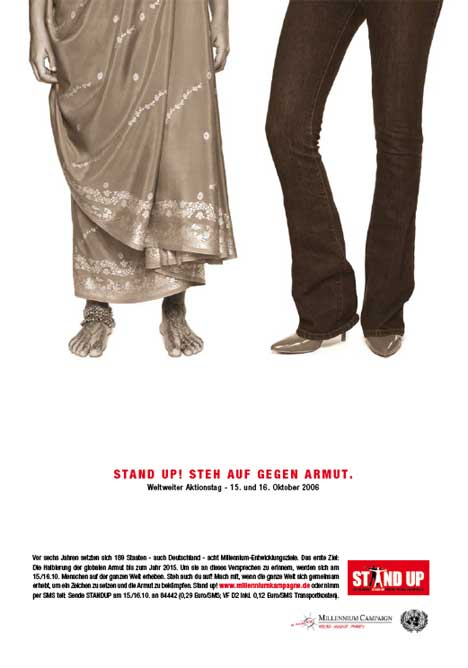 Stand Up Against Poverty - German poster