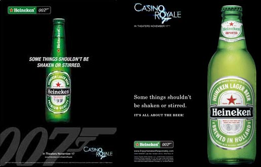 Heineken Some Things Shouldn't Be Shaken or Stirred Print Ads/Posters