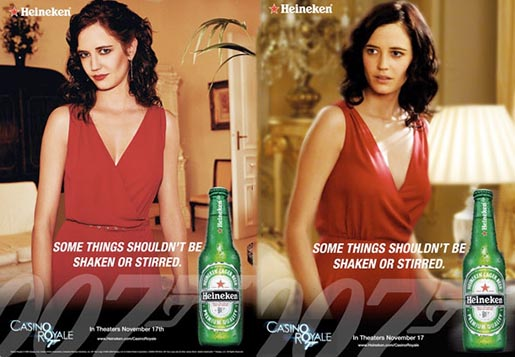 Heineken Shaken Stirred Print Ads with Eva Green