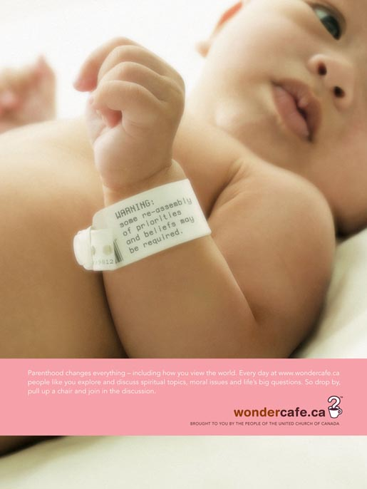 Baby in Wondercafe ad