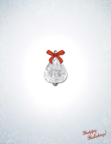 Guitar pick as Christmas bell