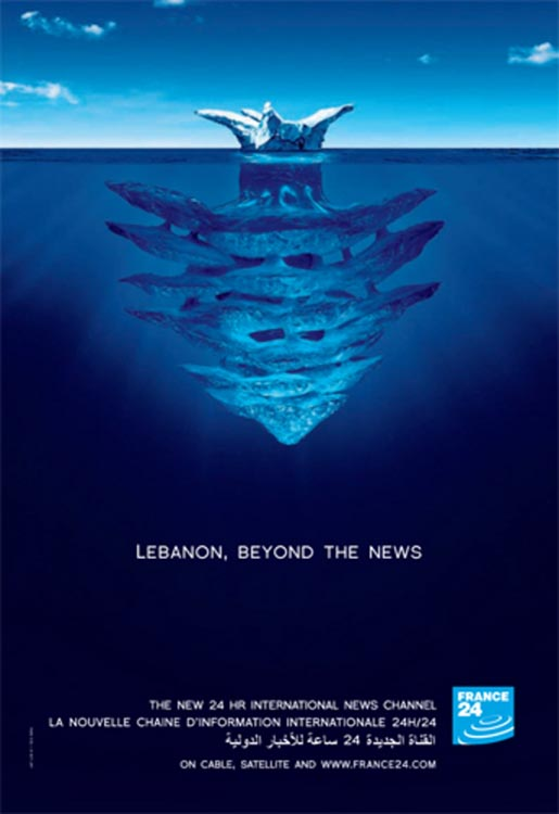 France 24 Iceberg with Lebanon