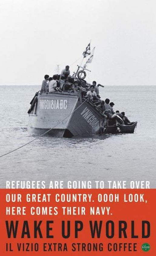 Refugee boat sinks