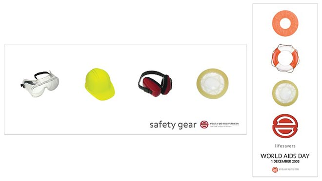 Safety Gear Poster for NZ Aids Foundation