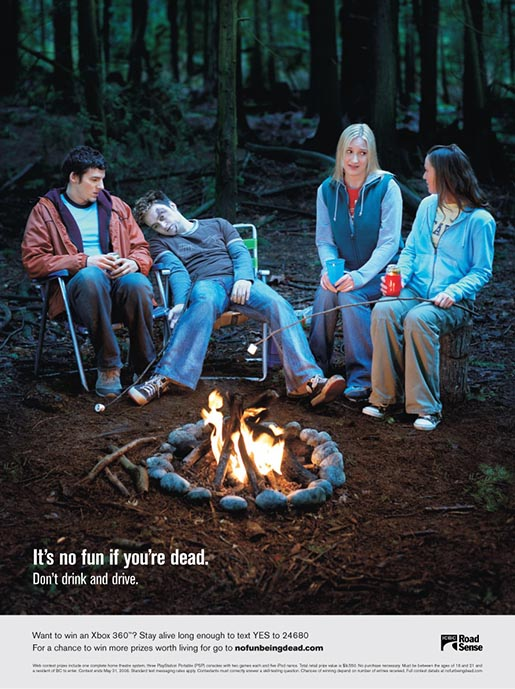 No Fun Being Dead Camping Poster