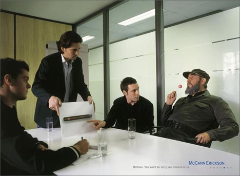 Fidel Castro as a client of McCann Erickson Advertising