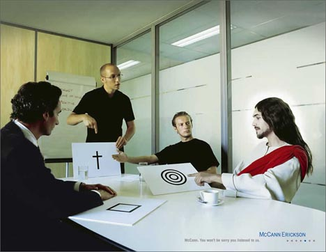 Jesus as a client of McCann Erickson advertising