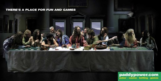 PaddyPower Poster using Last Supper