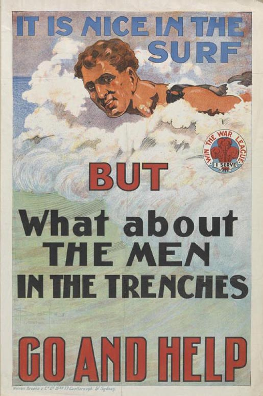 It is nice in the surf but what about the men in the trenches?