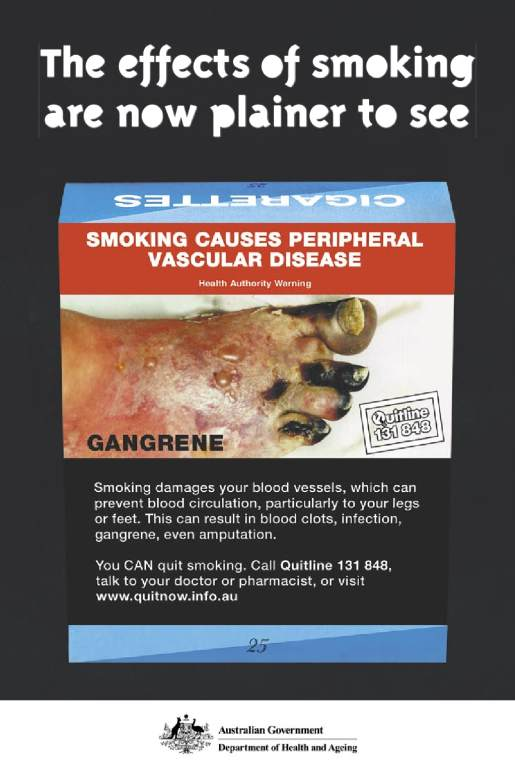 Smoking warning poster