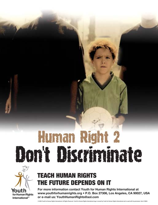 Poster imagery connected with Human Rights PSA