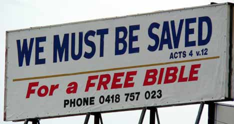 We Must Be Saved for a Free Bible