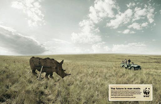 WWF artificial rhino