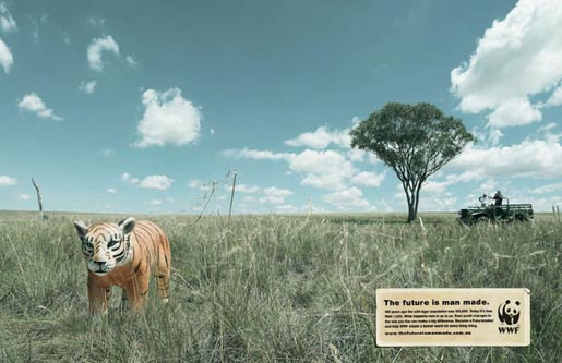 WWF Tiger Future is Man Made