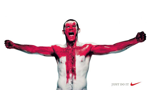 Wayne Rooney in St George Cross mode