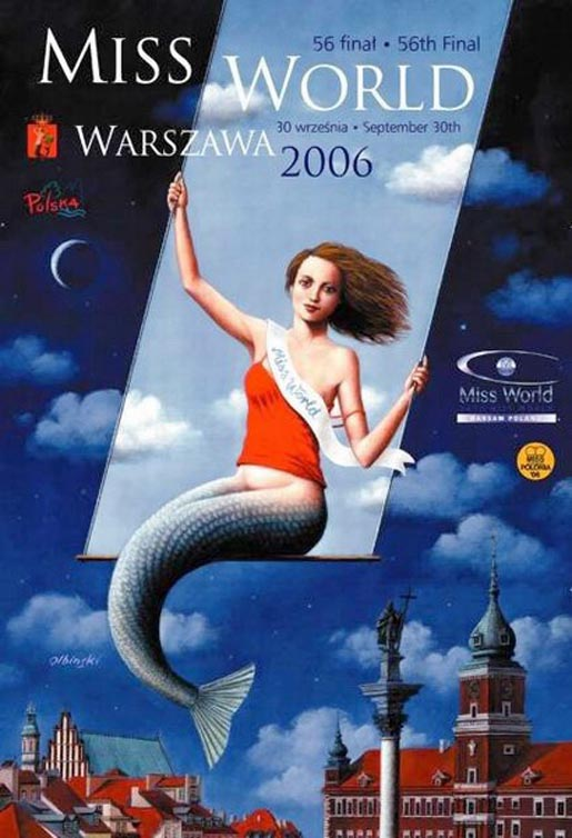 Warsaw poster for Miss World by Olbinski