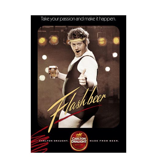 Carlton Draught Flashbeer print ad