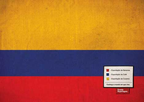 Colombia Flag used in Print Campaign