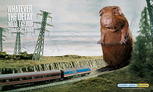 Giant hamster in Connex poster