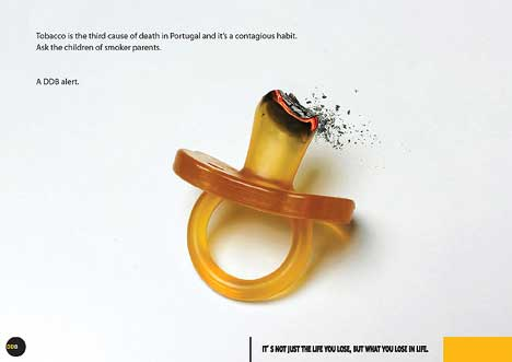 DDB warning against smoking