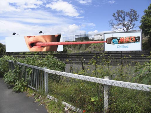 Tongue in Mars Chilled billboard
