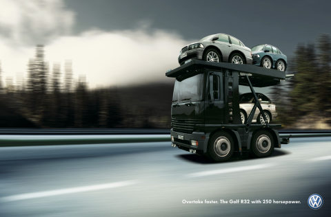 Car Transporter in Volkswagen Shortcut campaign