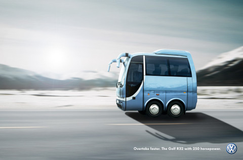Coach in Volkswagen Shortcut campaign