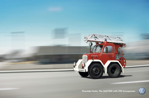 Fire Engine in Volkswagen Shortcut campaign