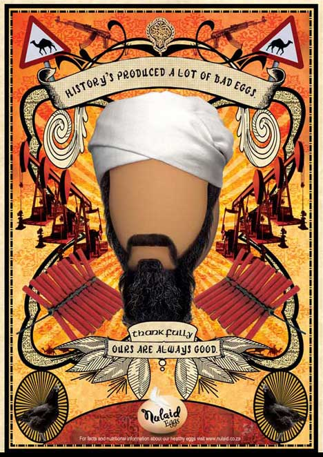 Osama Bin Laden in Nulaid print advertisement