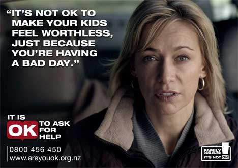 Alison Mau in Domestic Violence poster