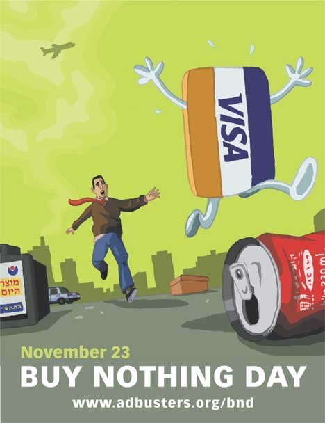 Adbusters Visa poster for Buy Nothing Day