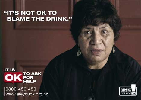 Aunty Mabel in Domestic Violence poster