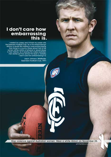 Jason Johnson poster for White Ribbon Day