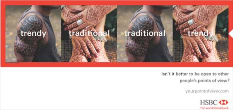 HSBC print ad - traditional or trendy?