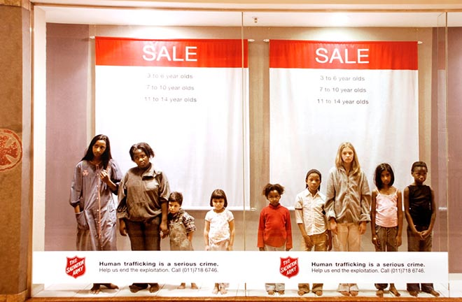 Children in Salvation Army ad against human trafficking