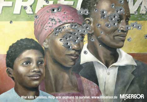 Misereor War Orphans Print advertisement based in Somalia