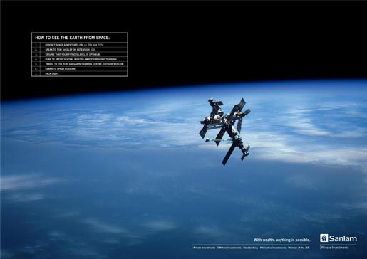 Sanlam How To See Earth from Space