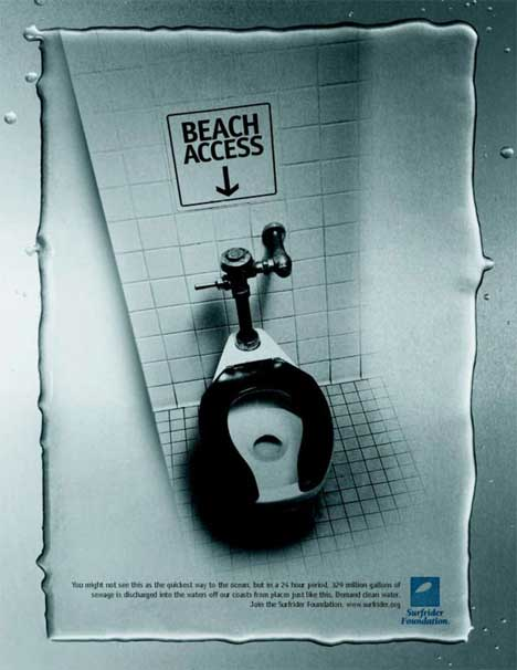 Beach Access poster for Surfrider Association