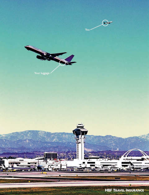 HBF Travel Airport print ad